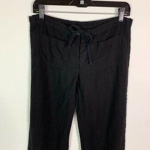 Vince Pants - Vince Pants Women's Size XS Black 100% Linen Draws